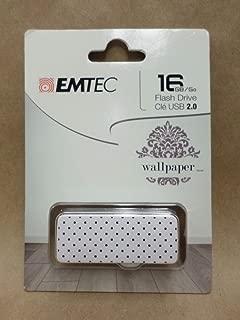 Emtec 16GB USB 2.0 Flash Drive Wallpaper Black Dot