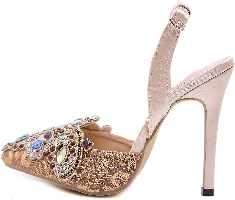 Damen-High Heels, 2019 Spitzen edlen Elegante Elegante High Heel sexy Damen Sandalen,a,37  günstigere preise
