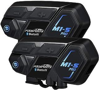 FODSPORTS インカム M1-S PRO バイク インカム 最大8人同時通話 強い互換性 連続使用20時間 日本語案内 Bluetooth いんかむ マルチデバイス接続 ヘッドセット ユニバーサル機能 インターコム 防水 HI-FI音質 ...