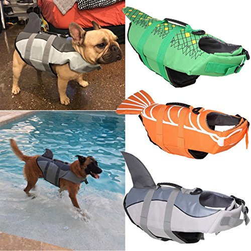 Billionaire Asia New Item Cute Pet Dog Cat Saver Life Jacket Vest Preserver Aquatic Sailing Safety S/M/L (M, Shrimp)