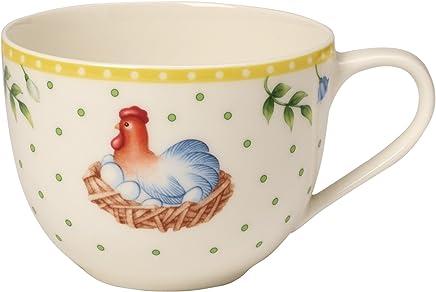 """Preisvergleich für Villeroy & Boch Spring Awakening Kaffeetasse """"Henne"""", 230 ml, Premium Porzellan, Gelb/Grün/Rot"""