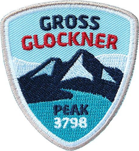 2 x Grossglockner Abzeichen 55 x 60 mm gestickt / Großglockner Bergtour Bergsteigen Berg-Wandern Klettern Klettersteig Österreich / Aufnäher Aufbügler Sticker Patch / Reiseführer Wanderführer Karte