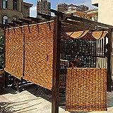 HXSM Tenda A Rullo per Esterno 180x200cm Tenda A Lamella Canna Tapparella Oscurante Tapparella A Carrucola in bambù Schermi per Privacy