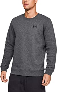 Under Armour Rival Solid Fitted Crew, Men's Fleece Jumper Crafted from Durable Fabric, Fleece Pullover with Long Sleeves Men