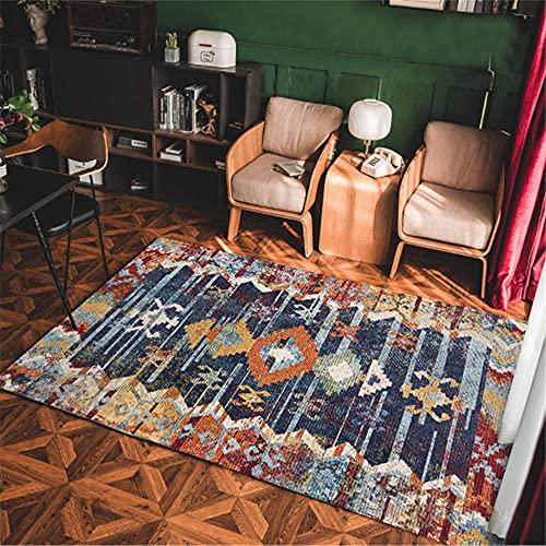 La alfombras Modernos para salón alfombras Azul Amarillo Gris Vintage patrón geométrico...