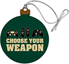 GRAPHICS & MORE Choose Your Weapon Controllers Games Gamer Wood Christmas Tree Holiday Ornament