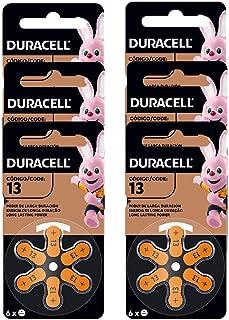 Kit com 6 Pilhas Duracell Auditiva 13 com 6 Unidades cada