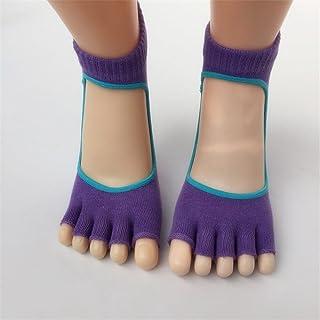 Back Open Toe Cotton Non-Slip Finger Socks Female Split Socks Yoga Socks,Fully Breathable