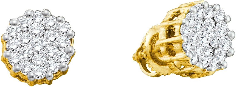 1 Total Carat Weight DIAMOND FLOWER EARRINGS
