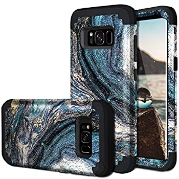 Galaxy S8 Case Samsung Galaxy S8 Case Casewind Samsung Galaxy S8 Case Blue Heavy Duty 3 in 1 Hard PC Soft Silicone Hybrid Shockproof Anti Scratch Rugged Bumper Protective Phone Case for Samsung S8