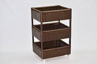 Brown storage drawers