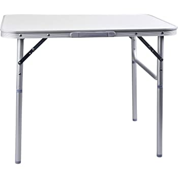 CAMP ACTIVE Table de Camping Pliante en Aluminium, Silber, 1 pièce
