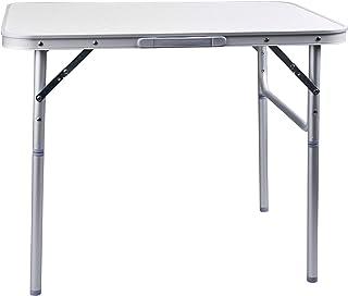 comprar comparacion CAMP ACTIVE Mesa Camping Plegable 75x55x60 Aluminio, Plata, 1-Pack