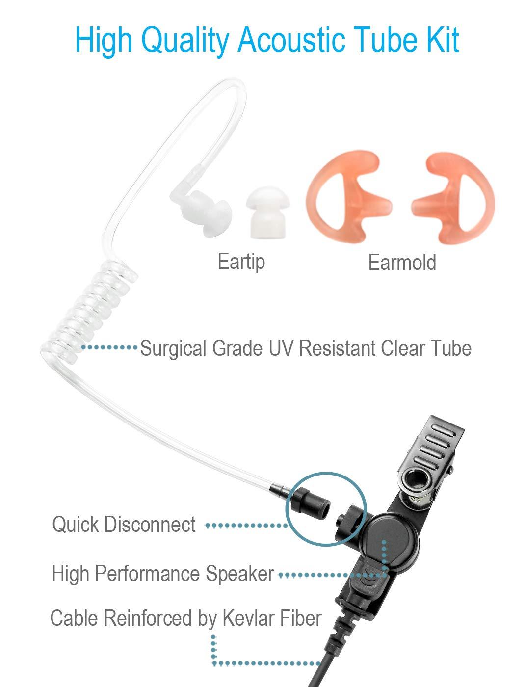 Auricular de un Solo Cable con Cable Alargado para Personas Altas, Compatible con Motorola Radios APX4000 APX6000 APX7000 APX8000 XPR 6350 XPR6550 XPR7350 XPR7550 XPR7350e XPR7550e APX 6000 7000 4000: Amazon.es: Electrónica