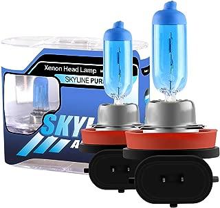 2pcs Super Bright White H11 55W 5000k Car Headlight Lamp Halogen Xenon Light Bulb Replacement 12V