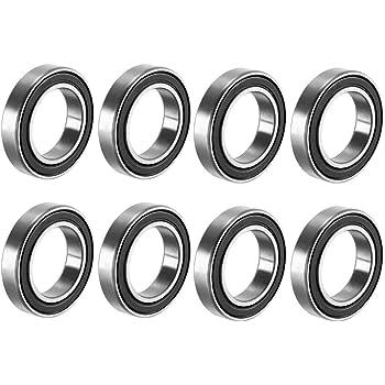 15/mm x 24/mm x 5/mm cuscinetti in acciaio al carbonio confezione da 8 Sourcing Map 6802RS radiali cuscinetto a sfere doppio sigillato 6802/ /2RS 1180802