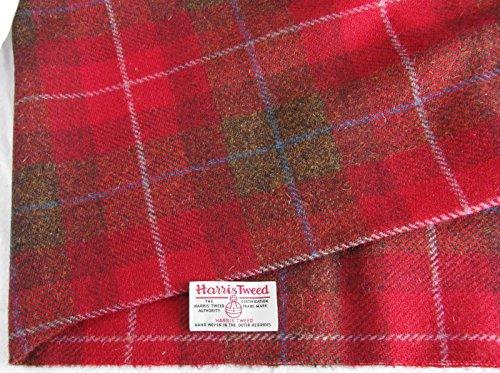 Authentic Harris Tweed Stoff 100% reine Wolle mit Etiketten.. 75cm x 50cm –-Nr. AU11–--...