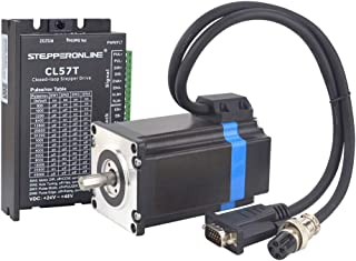 STEPPERONLINE 1 Axis Closed loop Stepper CNC Kit 1.85 Nm(262.03 oz.in) Nema 23 Closed loop Stepper Motor & Stepper Driver & 2 Extension Cable