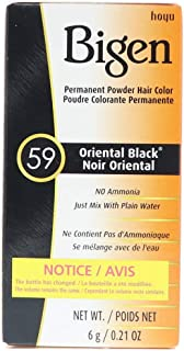 Bigen Permanent Powder Hair Color 59 Oriental Black 1 ea (Pack of 2)