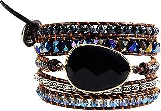 Natural Stone Bracelet 5 Wraps Bracelet Handmade Blue Color Boho Bracelet for Women Bracelet