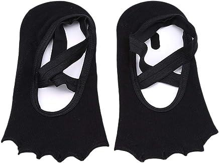 VWH Non Slip Five-Finger Yoga Socks Cross Bandage Dance Socks Shoes Socks for Women