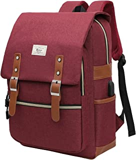Laptop Backpack for Men and Women College Bag with USB Charging Port Casual Rucksack School Backpack Daypacks Fits up to 15.6'' Laptop