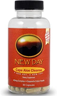 Natural Laxatives for Constipation, Cape Aloe Cleanse | Natural 15 Day Colon Cleanse & Detox Dietary Supplement | 90 Non-GMO Capsules Made in The USA in an FDA Inspected GMP Certified Facility