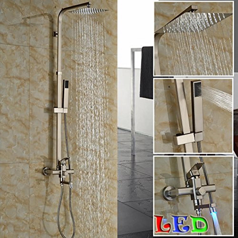 Maifeini Moderne Einzel Griff Auswurfrohr Schwenken Wanne Dusche Wasserhahn In-Wall Dusche Im Freien Mischer Mit 8  Ultra Thin Regendusche