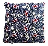 Kissenhülle Kissenbezug England British Style 40 x 40 cm Kissen ohne Inhalt Deko GAC 145