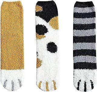Yutdeng, Calcetines Mujer Invierno Termicos Divertidos Lindos Calcetines de Pata de Gato Kawaii Calcetines de Invierno Algodón Regalo Creativo