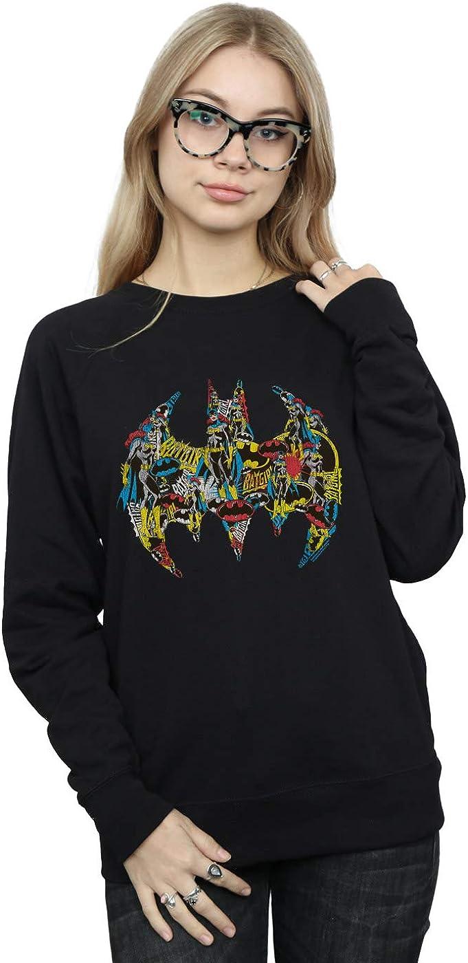 DC Comics Women's Batman Batgirl Collage Sweatshirt Direct sale of manufacturer unisex Logo