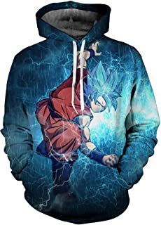 bd6ecc4f0aba Bettydom Men s Novelty Hoodies Sweatshirt 3D Printed Outerwear with The  Japanese Anime Dragon Ball for Men