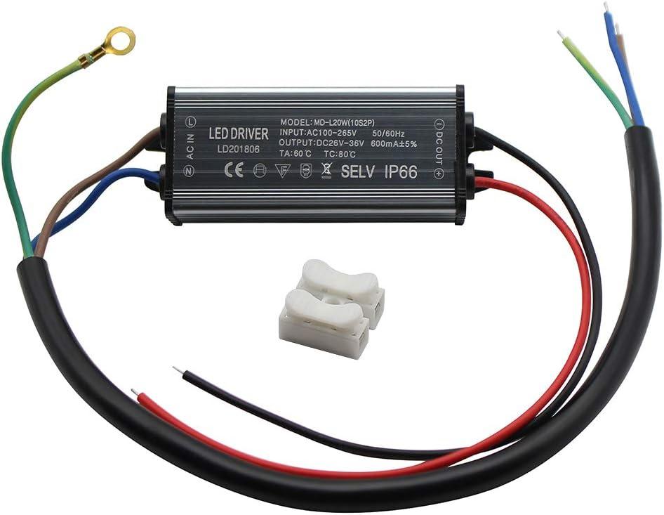 Fankerba San Diego Mall Aluminium Daily bargain sale IP66 20W LED 600mA Constant Driver O Current
