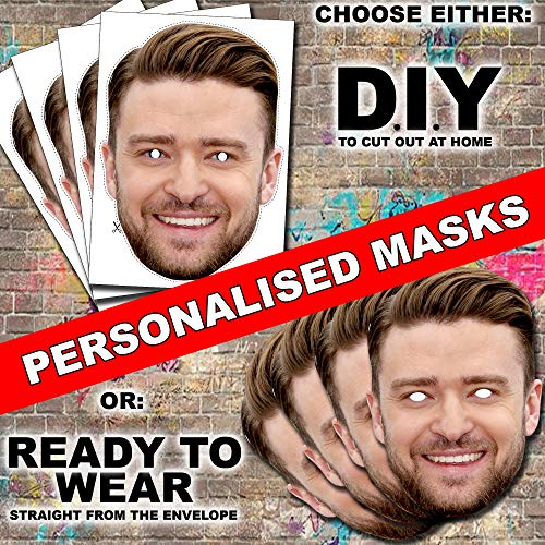 20 x Personalised DIY Face Masks kits for Hen, stag, birthday party etc