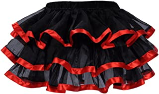 Mini Tutu Ballet Multi-Layer Ruffle Frilly Bridal Petticoat Skirt