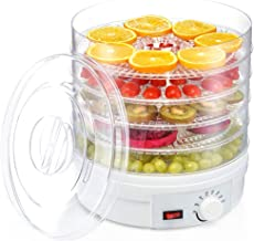 Déshydrateur de nourriture, sécheuse de fruits de ménage de palette 5AS, bouton de contrôle de température et viande de lé...