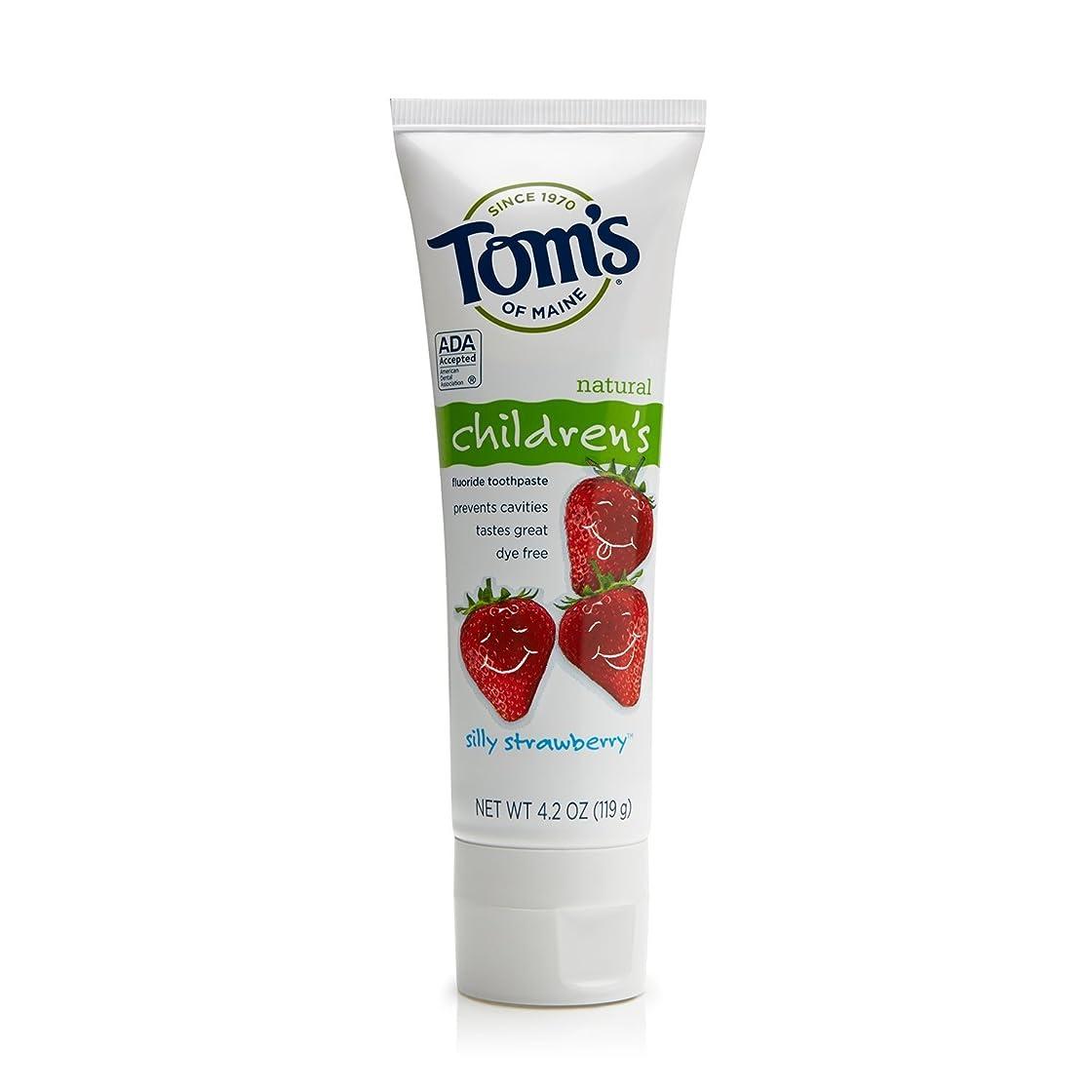 請求可能ギネス虚偽Tom's of Maine 4.2 oz. Silly Strawberry Natural Children's Anticavity Toothpaste by Tom's of Maine