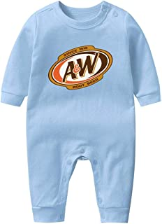 Unisex Baby Comfort Long Sleeve Footed Pajamas A&W-Root-Beer-Logo- Footies for Baby Boy Girl