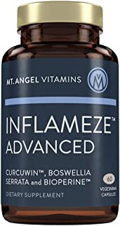 Mt. Angel Vitamins - Inflameze Advanced, with CurcuWIN, highest Bio-Available form of Tumeric Curcumin with Bioperine (60 Vegetarian Capsules)