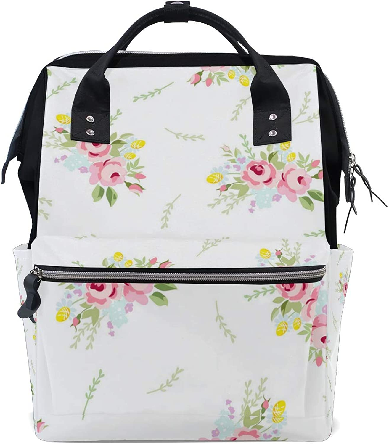 Dried Branch Red Flower Willow Leisure College Backpack Light Travel Male and Female Student Backpack Lightweight Canvas Backpack Medium Handbag Fashion Style Multifunction