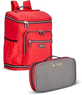Biaggi Zipsak Backsak Foldable 16-Inch Travel Backpack - As Seen on Shark Tank - Red
