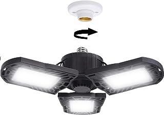 Cefrank LED Garage Licht Helder Plafondlamp Vervormbare Lampen Lamp Verstelbare Verlichting, E27 Base, 6000K Daglicht, 100...