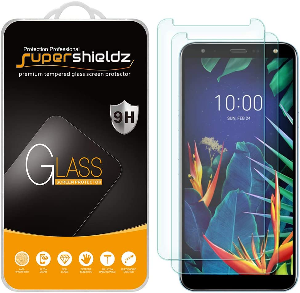 (2 Pack) Supershieldz Designed for LG K40 Tempered Glass Screen Protector, Anti Scratch, Bubble Free