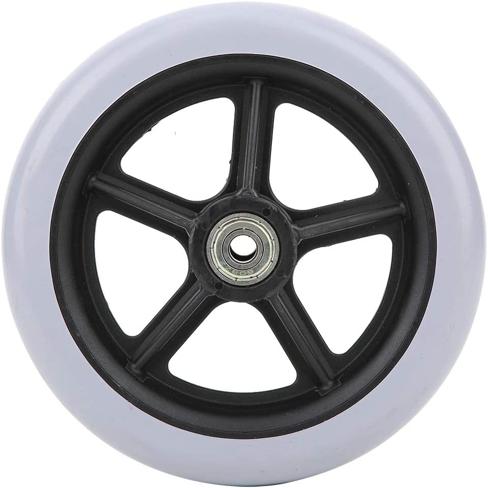 Fort Worth Mall 6 Inch Wheelchair Front Wheels Dia 147mm Fees free 5-Spoke Anti-Sl Rubber