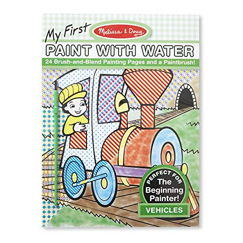 Melissa & Doug 9339 My First Paint With Water Coloring Book - Vehicles (24 Painting Pages)
