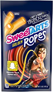 SweeTARTS Wonder Woman Golden Ropes, 5 Ounce, 12 Count