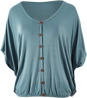 Bird Keepers Womens Tees The Relaxed Button Bamboo Tee - Tops