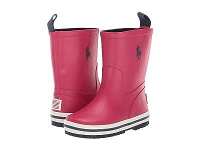 Polo Ralph Lauren Kids Kelso (Toddler/Little Kid) (Sport Pink Rubber/Navy PP) Girls Shoes