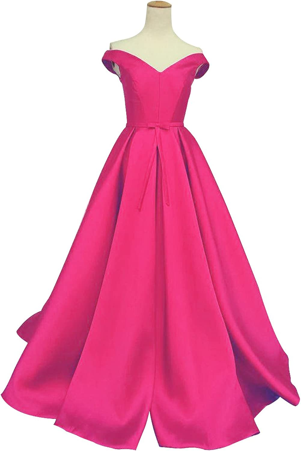 Selenova Women's Off The Shoulder ALine Evening Ball Gowns with Bow