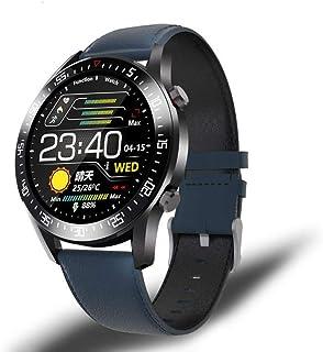 yuge - Reloj Inteligente Pantalla táctil Completa LED para Hombre, Adecuado para Monitor de presión Arterial y frecuencia cardíaca, Reloj Deportivo Impermeable, Azul